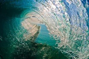 Morning Mirror-Liquid blue glass transforms into a crystal clear hollow wave by Mark A Johnson