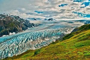 Spectacular Exit Glacier, Kenai Fjords National Park, Seward, Alaska by Mark A Johnson