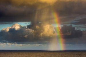 Spectacular rainbow off of Kalapana, Big Island, Hawaii by Mark A Johnson