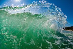 Transparent Wave-N. Stradbroke Island, Queensland, Australia by Mark A Johnson
