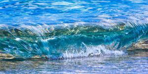 Wave breaking on the beach, Haena, Kauai, Hawaii, USA by Mark A Johnson