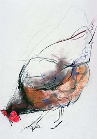 Feeding Hen, Trasierra, 1998