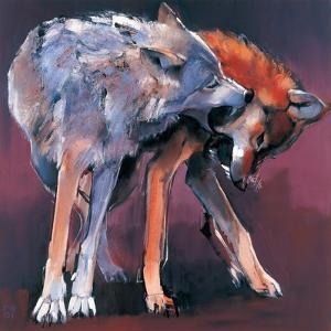Two Wolves, 2001 by Mark Adlington