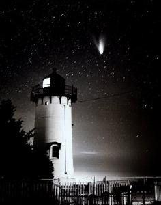 Comet Hale-Bopp over East Chop by Mark Alan Lovewell