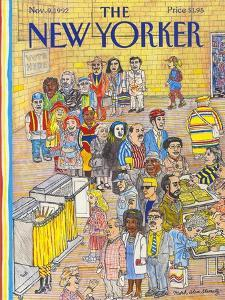 The New Yorker Cover - November 9, 1992 by Mark Alan Stamaty