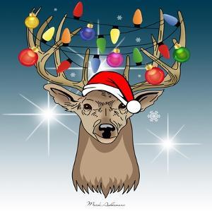 Christmas Deer 2 by Mark Ashkenazi