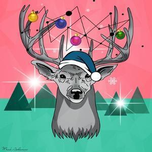 Christmas Deer 3 by Mark Ashkenazi
