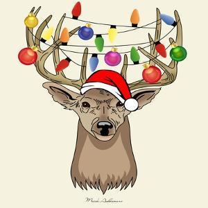 Christmas Deer by Mark Ashkenazi