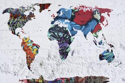 Map Graffiti by Mark Ashkenazi