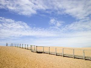 Boardwalk at Chesil Beach in Dorset by Mark Bolton