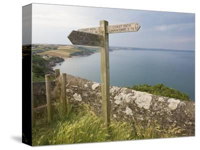 Direction Sign on Path Above Start Bay in Devon