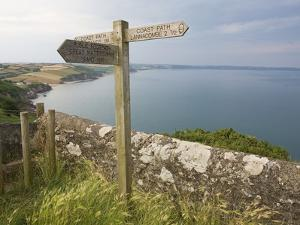 Direction Sign on Path Above Start Bay in Devon by Mark Bolton