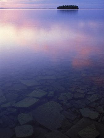 Clouds at Twilight, Lake Huron, Picnic Island, Upper Peninsula, Michigan, USA