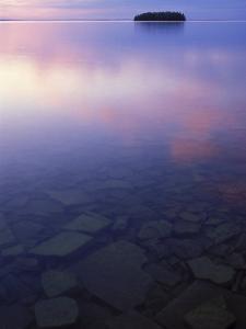 Clouds at Twilight, Lake Huron, Picnic Island, Upper Peninsula, Michigan, USA by Mark Carlson