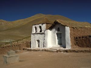 Exterior of a Small Church in Arid Landscape Near Al Tatio Geysers, Atacama Desert, Chile by Mark Chivers