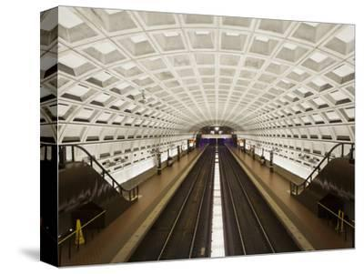 Foggy Bottom Metro Station Platform, Part of the Washington D.C. Metro System, Washington D.C., USA