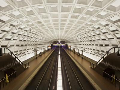 Foggy Bottom Metro Station Platform, Part of the Washington D.C. Metro System, Washington D.C., USA by Mark Chivers