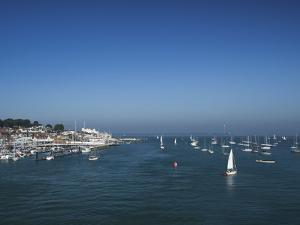 Harbour Entrance to Cowes, Isle of Wight, England, United Kingdom, Europe by Mark Chivers