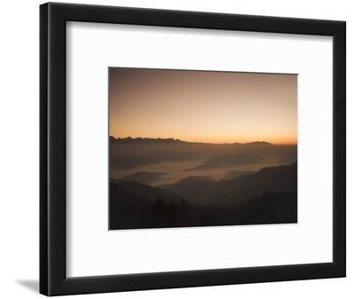 Himalayas at Sunrise, Near Ngarkot, Bagmati, Nepal, Asia