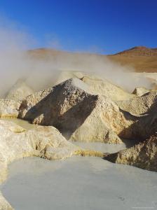 Hot Springs and Mud Pools, Salar De Uyuni, Bolivia, South America by Mark Chivers