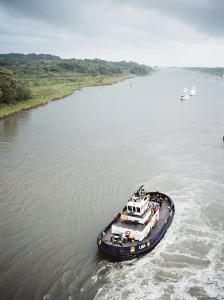 Manoeuvering Tugs, Panama Canal, Panama, Central America by Mark Chivers