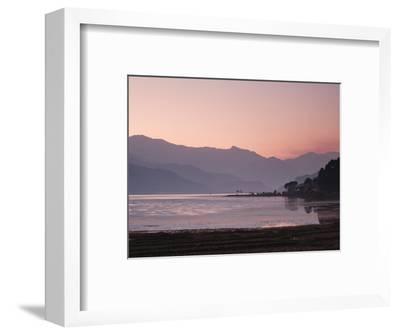 Phewa Lake at Sunset, Near Pokhara, Gandak, Nepal, Asia