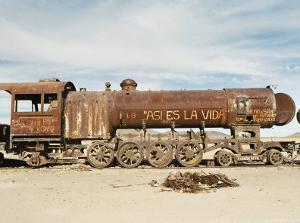 Rusting Locomotive at Train Graveyard, Uyuni, Bolivia, South America by Mark Chivers