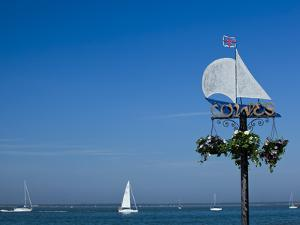 Sail Boats on the Solent, Cowes, Isle of Wight, England, United Kingdom, Europe by Mark Chivers