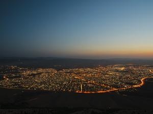Sulaymaniyah at Night, Iraq, Middle East by Mark Chivers