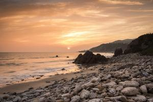 Sunset on Will Rogers Beach, Pacific Palisades, California, United States of America, North America by Mark Chivers