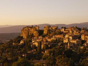 The Hill Top Village of Saignon at Sunset, Provence, France, Europe by Mark Chivers