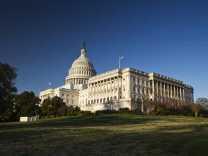 US Capitol Complex and Capitol Building Showing Current Renovation Work on Dome, Washington DC, USA by Mark Chivers