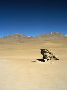 Wind Eroded Rock, Salar De Uyuni, Uyuni, Bolivia, South America by Mark Chivers