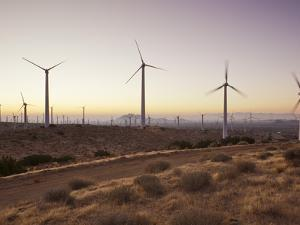 Wind Turbines Just Outside Mojave, California, United States of America, North America by Mark Chivers