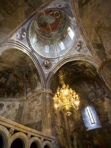 Ceiling Frescoes Inside Sapara Monastery by Mark Daffey