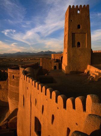 Citadel Tower in 2000 Year Old Arg-E Bam (Bam Citadel), Bam, Kerman, Iran