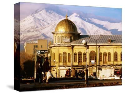 Emam Khomeini Square with Backdrop of Zagros Mountains, Hamadan, Iran