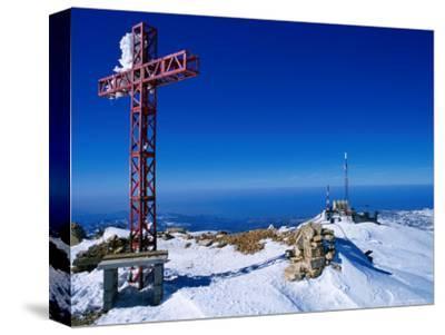 Faraya Mzaar Summit Cross in Kesrouane, Lebanon's Premier Ski Resort, Jabal Lubnan, Lebanon