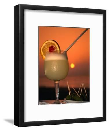 South Pacific Sunset and a Pisco Sour., Pisco, Ica, Peru