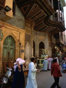 Street in Great Bazaar Khan Al-Khalil, Cairo, Egypt by Mark Daffey