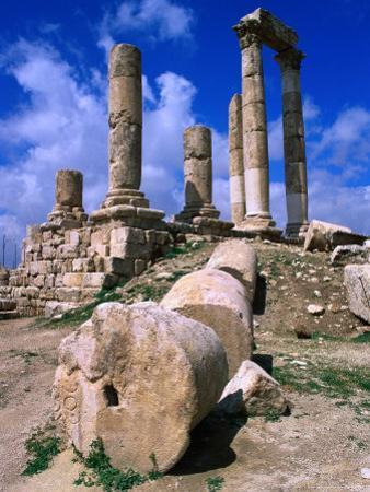 Temple of Hercules at the Citadel, Jebel Al-Qala, Amman, Jordan by Mark Daffey