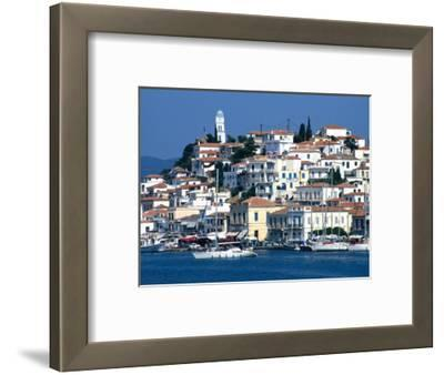 Waterfront and Town Behind Poros Harbour, Poros Town, Greece