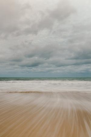 Tidal Motion on Carbis Bay Beach, St. Ives, Cornwall, England, United Kingdom, Europe