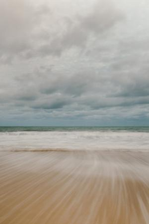 Tidal Motion on Carbis Bay Beach, St. Ives, Cornwall, England, United Kingdom, Europe by Mark Doherty
