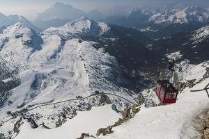 View of Cable Car Station, Dolomites by Mark Doherty