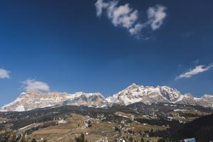 View of the Dolomites from La Ila, Alta Badia, Dolomites, South Tyrol, Italy by Mark Doherty