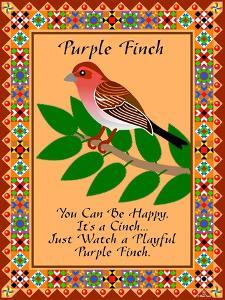 Purple Finch Quilt by Mark Frost