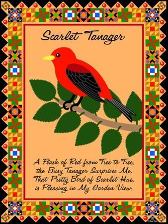 Scarlet Tanager Quilt by Mark Frost