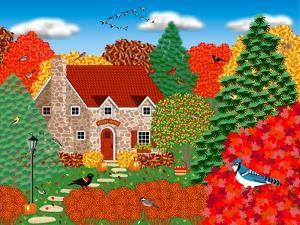 Stone Cottage Autumn by Mark Frost