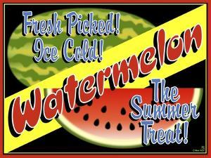Watermelon Crate Label by Mark Frost